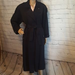 Gallery Navy Blue Trench Coat